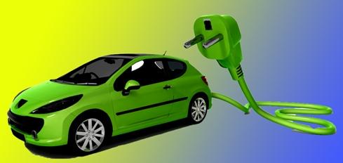 Зеленый электромобиль
