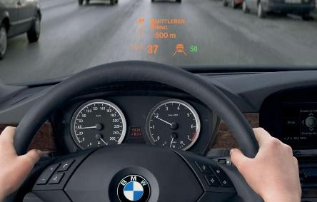 Система HUD на BMW