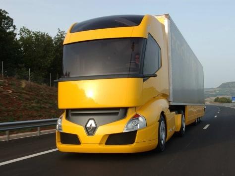 Фото желтого грузовика Рено