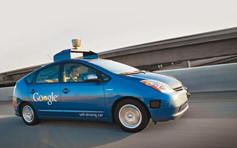 Синий беспилотник Гугл