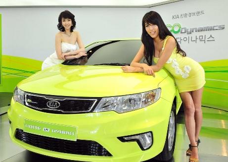 Фото Киа зеленого цвета