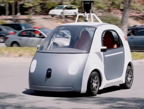 Прототип беспилотника Гугл в городе