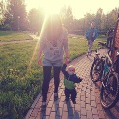 С сынишкой